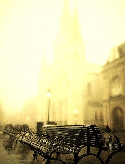 Foggy French Quarter, New Orleans, Louisiana
