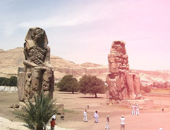 Colossi of Memnon are two massive stone statues of Pharaoh Amenhotep III. For the past 3400 years  they have stood in the Theban necropolis, across the...