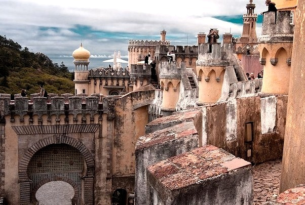 by kost80 on Flickr.The Sintra National Palace is located in the town of Sintra, in Portugal near Lisbon. It is the best preserved mediaeval Royal Palace in Portugal and it is an important tourist...