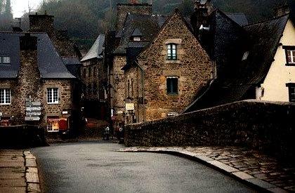 Winter Dusk, Dinan, France