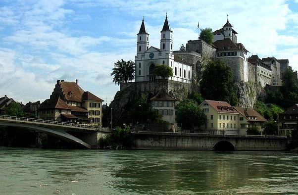 by chrchr_75 on Flickr.Schloss Aarburg in Aargau canton of Switzerland.