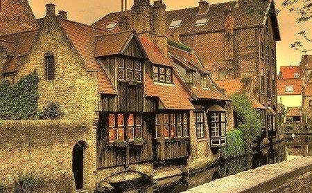 Dusk, Bruges, Belgium