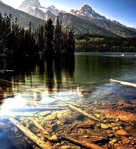 Beautiful view at Taggart Lake, Grand Teton NP, Wyoming, USA