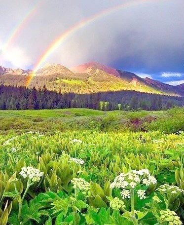 Double Rainbow, The Rocky Mountains, Colorado