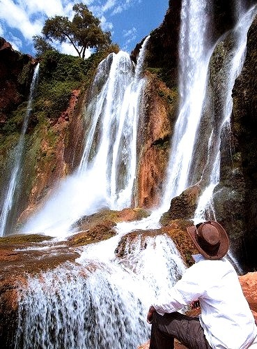 Admiring Cascades d'Ouzoud, the tallest waterfall in North Africa, Morocco