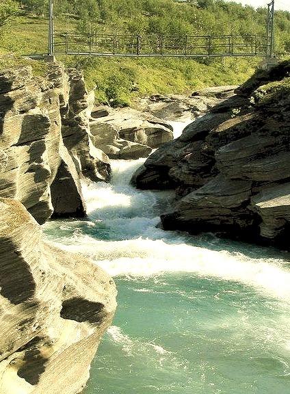 Glacial river in Padjelanta National Park, Sweden