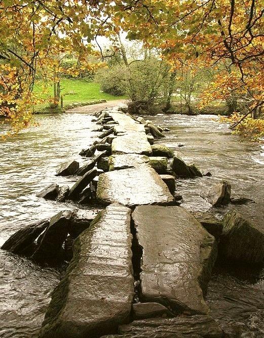 Ancient Bridge, Tarr Steps, Devon, England