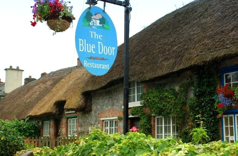The Blue Door restaurant in Adare village, Co. Limerick, Ireland