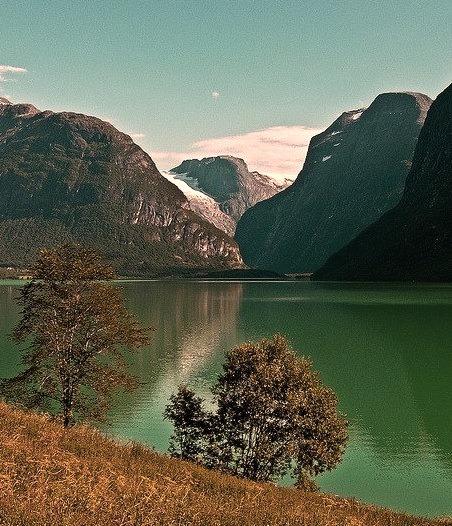 Lake Loen in Sogn og Fjordane county, Norway