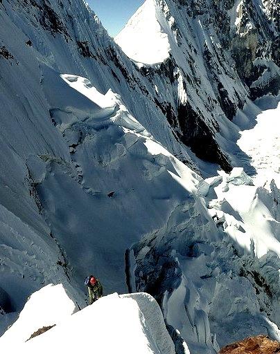 Climbing in Cordillera Huayhuash, Peru