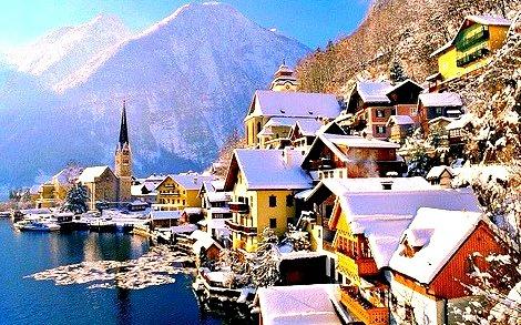 Winter's Morning, Hallstatt, Austria