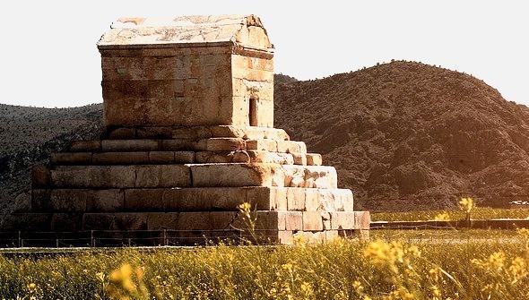 The tomb of the persian king Cyrus the Great at Pasargadae, Iran