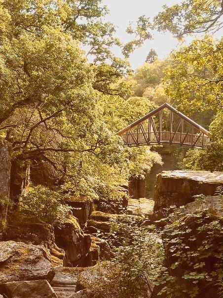 Bridge over Bracklinn Falls, Scotland