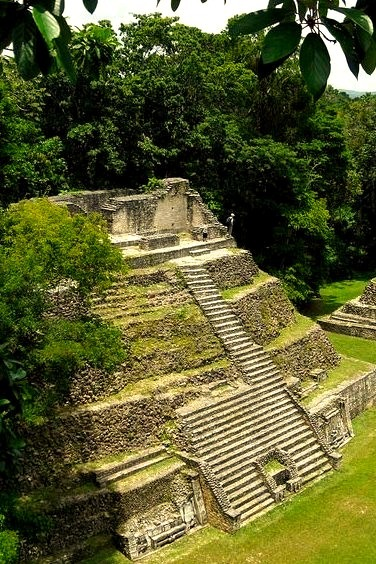 The mayan pyramid at Caracol in Cayo district, Belize