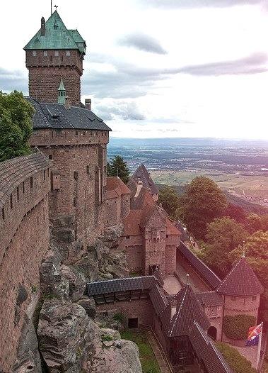 Haut-Koenigsbourg Castle in Alsace, France
