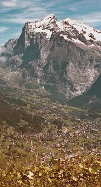 Panorama over Grindelwald, Canton of Bern / Switzerland